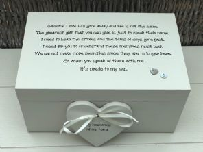 Personalised LARGE Memory Box ~ NANA GRAN ~ Any Name ~ Bereavement In Memory Of - 253464971840